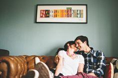 Sweet And Cosy Engagement Shoot At Home - Bridal Musings