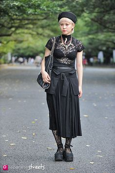 Gorgeous top! Love the combination of pieces~ - Japanese street fashion in Ueno, Tokyo