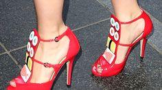 Lady Gaga oli valinnut jalkoihinsa Minna Parikan kengät. Copyright: Copyright Rex Features Ltd 2012/All Over Press. Kuva: Broadimage/REX/All Over Press.