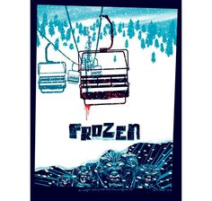 Frozen (2010) ~ Minimal Movie Poster by Kevin Tong #amusementphile