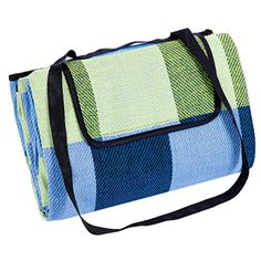 SONGMICS 77 x 59 Picnic Blanket with Waterproof Backing Beach Camping Outdoor Blanket Mat UGCM50C ** Be sure to check out this awesome product.
