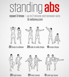 Standing Abs. Tag a friend.  @Gym__Exercises @Gym__Exercises #Gym__Exercises #FlatStomach