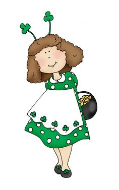Free Dearie Dolls Digi Stamps: St. Patty's Day Girl