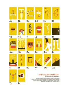 The Cyclist's Alphabet