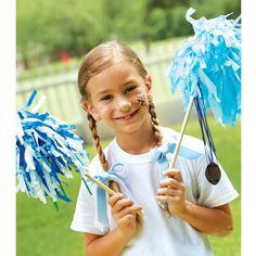 Do you have spirit? You will after completing this kids club pom pom spirit stick tutorial by Michaels. Go you!