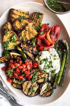 Chimichurri, Veggie Recipes, Vegetarian Recipes, Cooking Recipes, Healthy Recipes, Veggie Bbq, Vegetarian Grilling, Healthy Grilling, Veggie Food