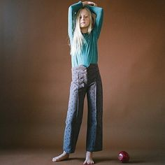 The retro cut 'Ant' pants pay homage some of the heroes that served as inspiration for this season: Le Corbusier, Le Petite Prince and Patti Smith — Photo by @Bien_Bien_Shop