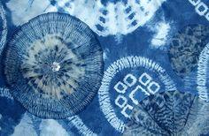 OOAK Designer Silk Skirt Shibori indigo dyed by sheverdushka