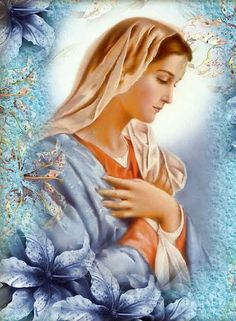 The Hail Mary Explained - Part 6 Holy Mary, Mother of God: Being the Mother of God is the source of all Our Lady's other titles. Blessed Mother Mary, Divine Mother, Blessed Virgin Mary, Catholic Art, Religious Art, Image Jesus, Images Of Mary, Queen Of Heaven, Mama Mary