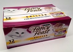 Purina Fancy Feast Grilled Chicken Canned Cat Food, One Carton with (12) 3oz cans by Purina -- You can find out more details at the link of the image. (This is an affiliate link and I receive a commission for the sales)