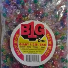 Big One 1/2 lb Bag of Pony Beads