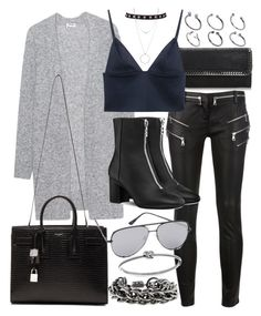 """""""Untitled #20634"""" by florencia95 ❤ liked on Polyvore featuring Acne Studios, STELLA McCARTNEY, Balmain, T By Alexander Wang, Yves Saint Laurent, Quay, ASOS, Burberry, Michael Kors and Botkier"""