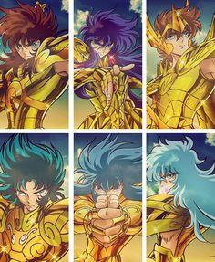 Saint Seiya - Gold Saints Libra Dohko, Scorpio Milo, Sagittarius Aiolos, Capricorn Shura, Aquarius Camus & Pisces Aphrodite