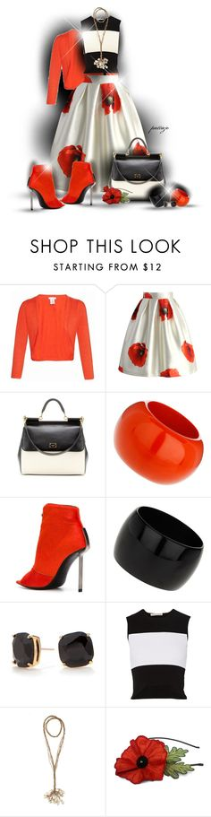 """""""Poppies"""" by rockreborn ❤ liked on Polyvore featuring Oscar de la Renta, Chicwish, Dolce&Gabbana, Vic Matié, Wallis, Kate Spade and Autumn Cashmere"""
