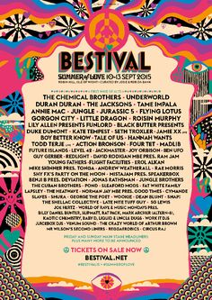 Bestival 2015 Lineup Poster                                                                                                                                                                                 More