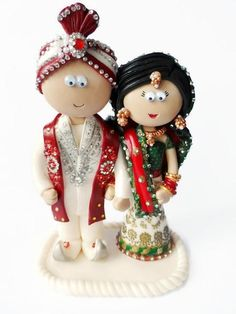 Photos of Indian Asian personalised Indian wedding cake toppers