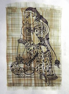 Must Art Gallery is the best among all art galleries in Delhi for Tribal Art Forms and Tribal and Folk Art Paintings in India. Visit our website and buy modern and contemporary art paintings. Kalamkari Painting, Fabric Painting, Fabric Art, Indian Traditional Paintings, Indian Art Paintings, Madhubani Art, Madhubani Painting, Art Gallery In Delhi, Art Forms Of India