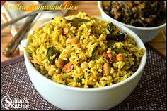 Andhra Pulihora | Andhra Tamarind Rice