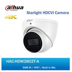 Dahua HDCVI Camera HAC-HDW2802T-A 4K Starlight IR Dome Eyeball Camera IP67 50M IR Full HD Coaxial Security CCTV Camera  Price: 1703.86 & FREE Shipping #computers #shopping #electronics #home #garden #LED #mobiles #rc #security #toys #bargain #coolstuff |#headphones #bluetooth #gifts #xmas #happybirthday #fun Cctv Camera Price, Camera Prices, Electronics Gadgets, Tech Gadgets, Fixed Lens, Audio In, Shutter Speed, Free Shipping, Electronic Devices