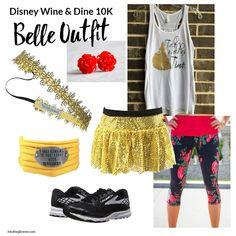 disney wine and dine belle running costume