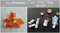 no, don't throw it away! yeah reuse those pill bottles to carry little things #ReuseIt While I was cleaning up some drawers over the weekend, I've found some pi…