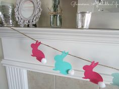 Peter Cottontail Easter Banner by Glamorous, Affordable Life on Etsy