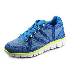 Lightweight height increasing sneakers add taller 6.5cm / 2.56inch blue breathable running shoes