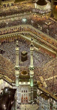 The Kaaba in Al-Masjid al-Haram, Mecca, Saudi Arabia Islamic Images, Islamic Pictures, Islamic Art, Mecca Madinah, Mecca Kaaba, Masjid Al Haram, Mekkah, Islamic Wallpaper, Allah Wallpaper