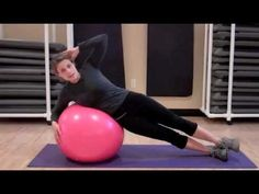 Stability Ball Abs and Obliques. I just did this and it did get some muscles that my traditional workout leaves out. Good mix up!