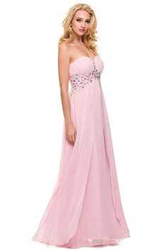 Prom Dress with Open Back NX2696 Long A-Line Prom and Evening Dress has Sweetheart and Strapless Neckline featuring Beaded Waistline and Back with Cutouts, Layered Shiffon Skirt. https://www.smcfashion.com/wholesale-prom-dresses/prom-dress-nx2696