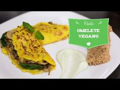 Delicioso omelete vegano de cogumelos e espinafre - sem glúten! (Vegan G...