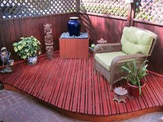 Quiet Spot - Gorgeous Patios and Decks From Rate My Space on HGTV. Quiet Spot-RMSer Tallmantop built this contoured meditation deck for his wife and later added a footstool using the same decking materials.