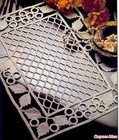 Diy Crafts - Great choice of schemes to crochet Filet Crochet, Crochet Diagram, Irish Crochet, Crochet Motif, Crochet Doilies, Crochet Stitches, Embroidery Stitches, Knit Crochet, Crochet Patterns