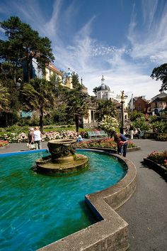 Portmeirion Village, Snowdonia, Wales, UK by RobRoyAus, via Flickr location for the cult series The Prisoner