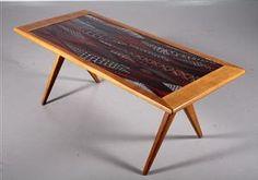 Lauritz.com - Modern furniture - tables and chairs - Stig Lindberg. Coffee table, NK Nordiska kompaniet,1950's - SE, Örebro, Aspholmen