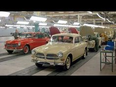 anniversary of the Volvo plant in Torslanda, Sweden Volvo Amazon, Assembly Line, Volvo Cars, Rally Car, Station Wagon, Sweden, Dream Cars, Convertible, Antique Cars