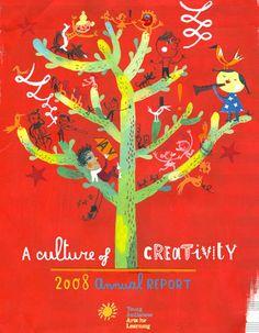 """De la mano de Sara Fanelli, la ilustración para la portada del """"Annual Report: The Young Audiences"""" (2014)."""