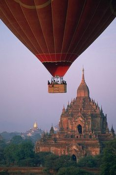 nice temple. i have Always wanted to ride in a hot air balloon! this is a much better view than im sure i'd get here in AZ!
