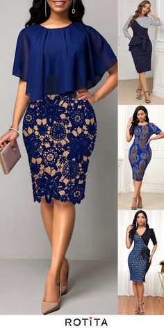 Short African Dresses, Latest African Fashion Dresses, African Print Dresses, Women's Fashion Dresses, Office Dresses For Women, Lace Dress Styles, African Attire, Classy Dress, Sheath Dresses