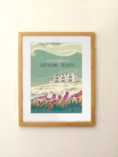 Wuthering Heigths poster  Emily Bronte  print by PemberleyPond, €15.00