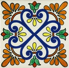 Our Mexican hand painted ceramic tile Zacatecas II 4 inch coaster sets and 6 inch trivet sets make the perfect gift for house warmings, birthdays and the winter Painting Ceramic Tiles, Tile Art, Porcelain Tiles, Ceramics Tile, Cement Tiles, Mosaic Tiles, Wall Tiles, Ceramic Art, Mexican Ceramics