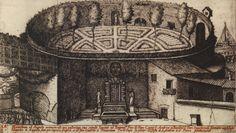 Мавзолей Августа. Гравюра из «Видов развалин Древнего Рима» Ало Джованьоли, 1619 г.