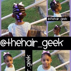 Look at this lovely Little Lady in her braided Mohawk by The Hair Geek with Little Lady GaBBY Bows!