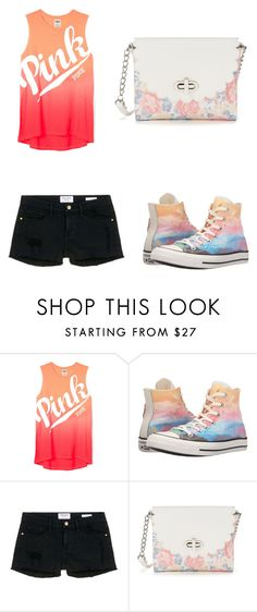 """""""Pink pastel"""" by sadie-loehr on Polyvore featuring Converse, Frame Denim and Candie's"""