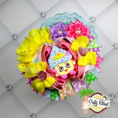 Shopkins Cupcake Handmade Boutique OTT Hair Bow #CraftyRetreat