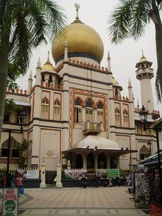 Sultans Mosque, Arab st, Singapore now Islamic Architecture, Place Of Worship, Taj Mahal, Country, Building, Places, Mosques, Java, Temples