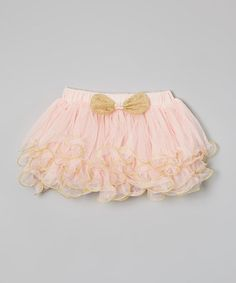 Look what I found on #zulily! Pink & Gold Pearl Pettiskirt - Toddler & Girls #zulilyfinds