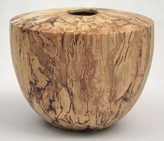 Spalted beech vase by Paul Hannaby.