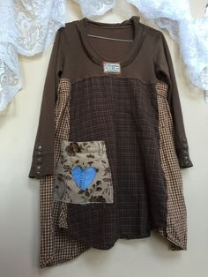 Medium Upcycled Boho Chic Hoodie Funky Tunic by SimplyCathrineAnn