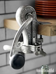 #Kitchen of the Month, February 2013. Design: Dan Doyle. Antique wine bottle opener.